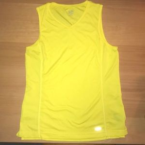 Champion Sleeveless Workout shirt Yellow Sz M